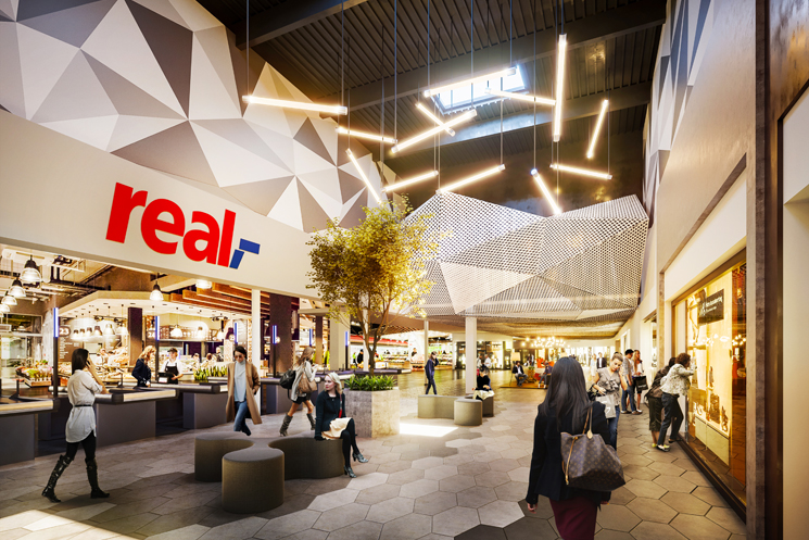 Facade development and interior design concept for the Durlach Shopping Center, in collaboration with ECE Projektmanagement in Karlsruhe (DE)