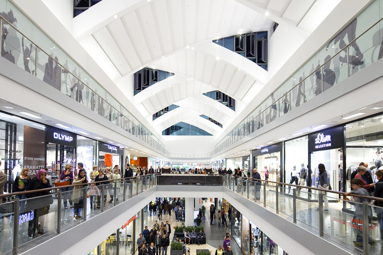Refurbishment and extension of Rheinpark Shopping Center in collaboration with PGG and ECE Projektmanagement, in Neuss, Germany